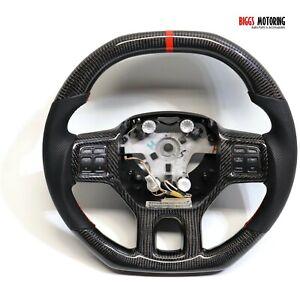 Fits 2013 Dodge Ram  Custom Carbon Fiber & Leather Flat Bottom Steering Wheel