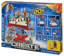 WWE CREATE A WWE SUPERSTAR RING BUILDER MIX & MATCH 20+ RINGS 28+ INCHES TALL
