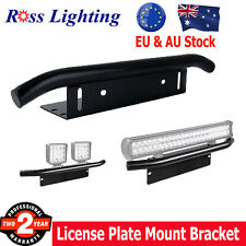 Bull Bar Bumper License Number Plate Holder Mount Bracket LED Light Off road 23""