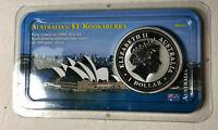 2001 Australia Kookaburra $1 Dollar 1 Ounce .999 Silver Coin UNC