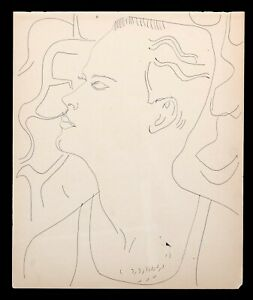 2 TOP221.005.01 Andy Warhol Original Untitled (Male) Line Drawing