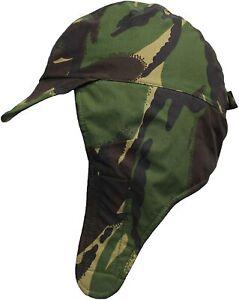 British Army Waterproof Cold Weather Cap/Hat GoreTex Fleece-Lined DPM Camouflage