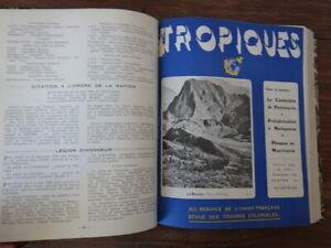 REVUE DES TROUPES COLONIALES (Av. Tropiques) Année 1949 complète bien reliée
