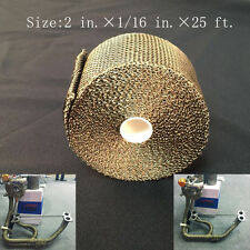 "Exhaust Heat Header Wrap Titanium 1/16"" X 2"" X 25' pipe insulation and Zip Ties"