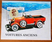 Cars Ancient Transport Benin Republic 1997 Stamp Sheet MNH