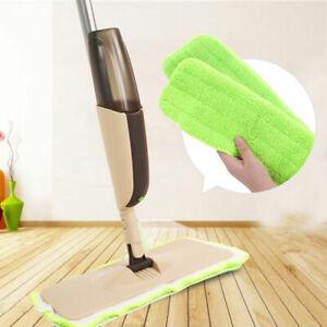 Spray Mop Water Spraying Floor Cleaner Set w/ 2 Microfiber Pads Marble Kitchen