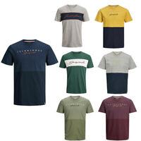 Jack & Jones Mens T shirt Printed Casual Short Sleeve Crew Neck T-shirt Tee Tops