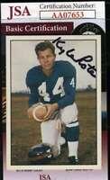 Kyle Rote 1981 Tcma Jsa Cert Hand Signed Authentic Autograph