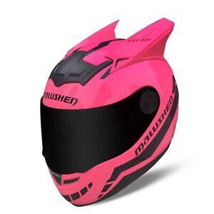 Cat Ears Full Face Helmet Motorcycle Racing Helmet Casco de moto MALUSHEN