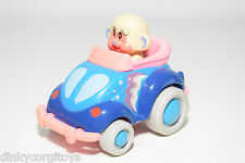 PLASTIC VW VOLKSWAGEN BEETLE KAFER BLUE PINK WITH FIGURE EXCELLENT CONDITION