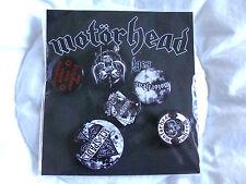 Badge: Motorhead : Set Of 6 Pin Badges : 2 Sizes Round & Sealed