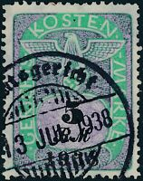Stamp Germany Poland Revenue WWII Court Document Fee 1938 5 RM Used