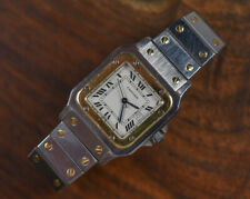 Vintage CARTIER 18k Stainless Steel Santos Galbee Automatic Mid Size Watch