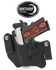 "1911 3""  Barrel with or w/o Lasergrips IWB Dual Snap Holster LEFT Hand Black"