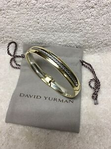 Authentic DAVID YURMAN MENS 18K Yellow Gold And Sterling Silver 925 BRACELET.