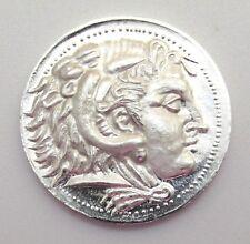 1/4 oz .999 Silver Quarter Round Alexander the Great 'Tetradrachm' 1stSTRIKE+COA