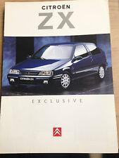 pub catalogue CITROEN 1995 ZX Exclusive essence série spéciale publicité