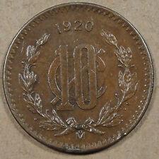 1920 Mexico 10 Centavos Better Circulated Grade Coin