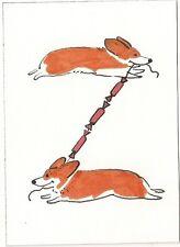 ACEOS  26 LETTERS RYTA PEMBROKE WELSH CORGI ALPHABET SCRAPBOOKING DOG ART CARDS