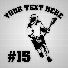 Lacrosse Wall Decal Youth Lax personalized boy room wall stickers lacrosse team