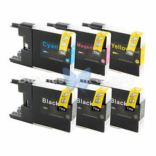 6 PACK LC71 LC75 Ink Cartridge for Brother MFC-J280W MFC-J425W MFC-J435W LC75