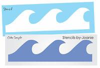 """STENCIL 6"""" tall Ocean Beach Wave Tropical Bedroom Wall Nautical Art Border Signs"""