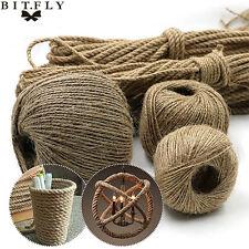 100M Natural Hessian Rope Burlap Ribbon DIY Craft Vintage Wedding Party Decor