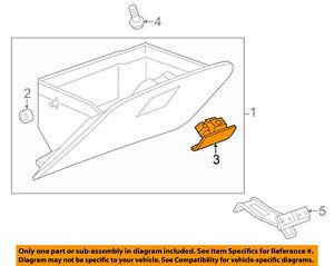 Chevrolet GM OEM 13-15 Spark Glove Compartment Box-Latch Handle 95143239