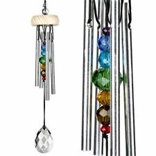 Woodstock Crystal Gem Drop Wind Chime SMALL with Chakra Fairy Rainbow Chime