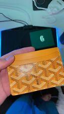Goyard Authentic card Holder Yellow