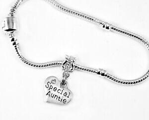 Aunt Jewelry Aunt bracelet Aunt gift Aunt bangle aunt present Aunt charm crystal