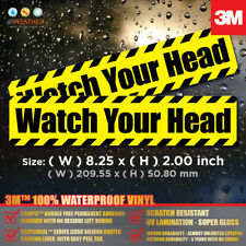 Watch Your Head 2pcs Waterproof Sticker Outdoor Decal 3m Vinyl Label Safety Sign