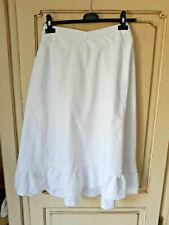 Ancien jupon de femme en coton blanc