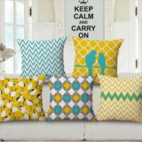Cushion Geometric Boho Waist Decor Stripe Bed Sofa Throw Pillow Case Bird Cover