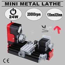 Mini Metal Motorized Lathe Machine Model Making 24W Woodworking Power DIY Tool