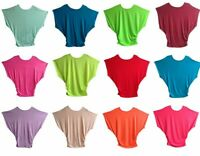 PT1 Women Ladies Short Sleeve Loose Blouse Baggy Tops Batwing T-Shirts