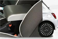 Bracciolo LIMITED EDITION per FIAT 500 regolabile lunghezza ecopelle nero bianco