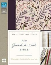 NIV, Journal the Word Bible, Cloth over Board, Pink Floral: Reflect, Journal, or