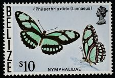Belize (1740) - 1974 BUTTERFLY $10 top value unmounted mint