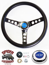 70-73 Chevy Pickup Blazer Suburban steering wheel BLUE BOW 13 1/2 CLASSIC CHROME