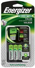 Energizer Recharge Value Charger with 4 AA NiMH Rechargeable Batteries