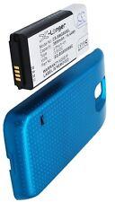 Carcasa Azul + Batería 3800mAh tipo EG-BG8000BBE Para Samsung Galaxy S5 Dx