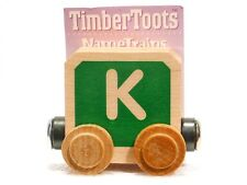 Timber Toots Name Trains Wooden Railway System Alphabet Preschool Toys Letter K