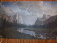 Print Yosemite State Park Landscape Dino Massaroni Artist Mountains Meadow Deer