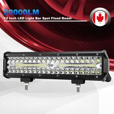20000LM LED Work Light Bar 12 Inch Spot Flood Beam Work Light Driving Lights 4WD