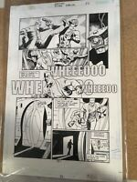 Batman Our Worlds At War Original Art P.33 Great action page DC Comics. Gaudiano