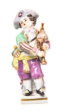 Figur Gärtnerjunge mit Dudelsack Meissen Victor Acier 1. Wahl Modell G10 10,5cm