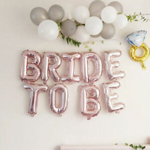 AU Rose Gold Foil BRIDE TO BE Balloons Wedding Party Bridal Hen's Night