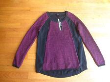 NWT Womens Renuar Sweater Black Pink Raspberry  Size S/P Small/ Petite NEW $84