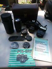 Yashica FX-3 Super 2000 SLR camera + 50mm Yashica Lens + 75-150 zoom lens wow